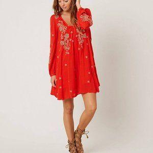 🌻Free People Embroidered Mini dress